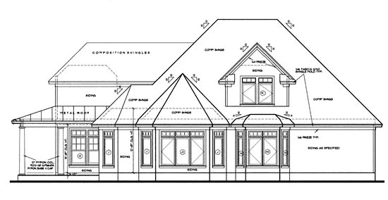 Contemporary Country House Plan 68131 Rear Elevation