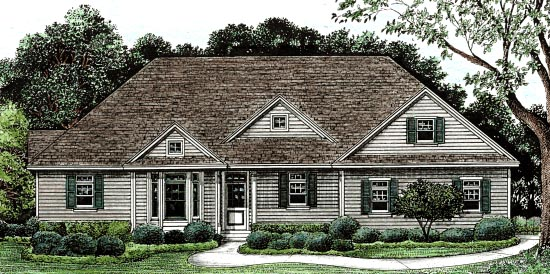 Traditional House Plan 68135 Elevation