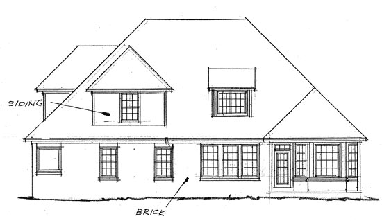 Rear Elevation of French Country   House Plan 68145