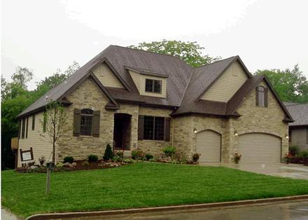 French Country House Plan 68145 with 4 Beds, 4 Baths, 3 Car Garage