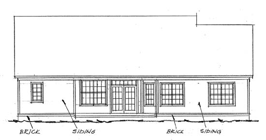 Traditional House Plan 68146 Rear Elevation