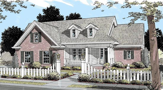 Traditional House Plan 68157 with 3 Beds, 3 Baths, 2 Car Garage Elevation