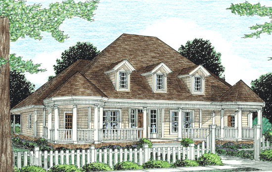 Country Farmhouse Southern Victorian House Plan 68163 Elevation