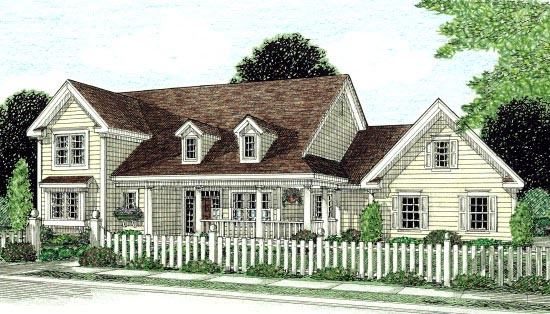 Country Southern Traditional House Plan 68166 Elevation