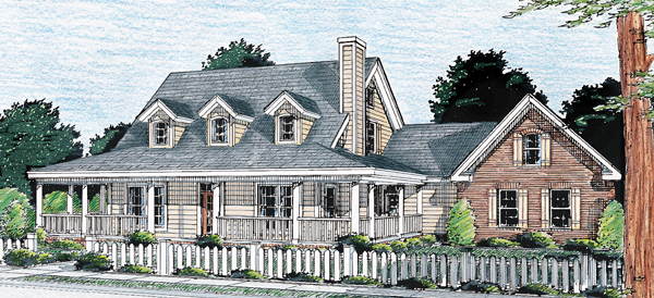 Country Southern House Plan 68172 Elevation