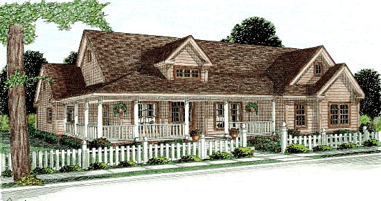 Country House Plan 68177 Elevation