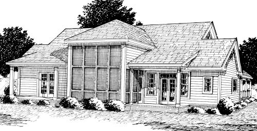 Country House Plan 68177 Rear Elevation