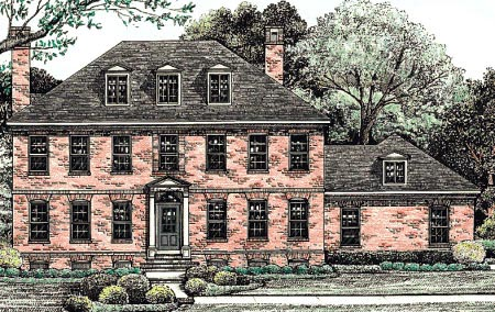 Colonial House Plan 68195 Elevation