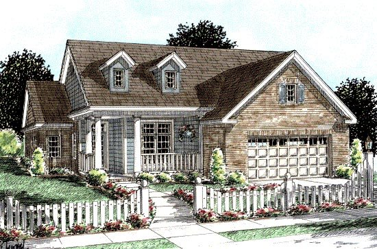 Country Traditional House Plan 68209 Elevation