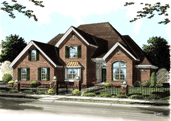 European House Plan 68227 Elevation