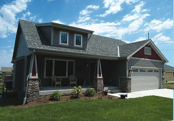 Craftsman House Plan 68231 with 3 Beds, 2 Baths, 2 Car Garage Elevation