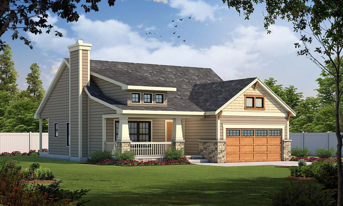 Craftsman House Plan 68231 with 3 Beds, 2 Baths, 2 Car Garage Picture 4