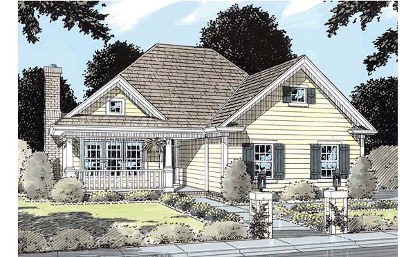Traditional House Plan 68232 Elevation