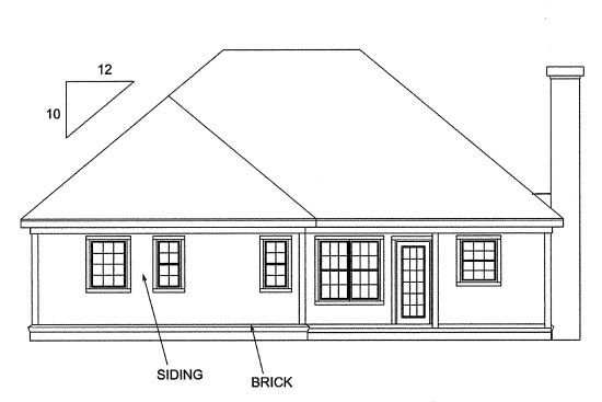 Traditional House Plan 68232 Rear Elevation