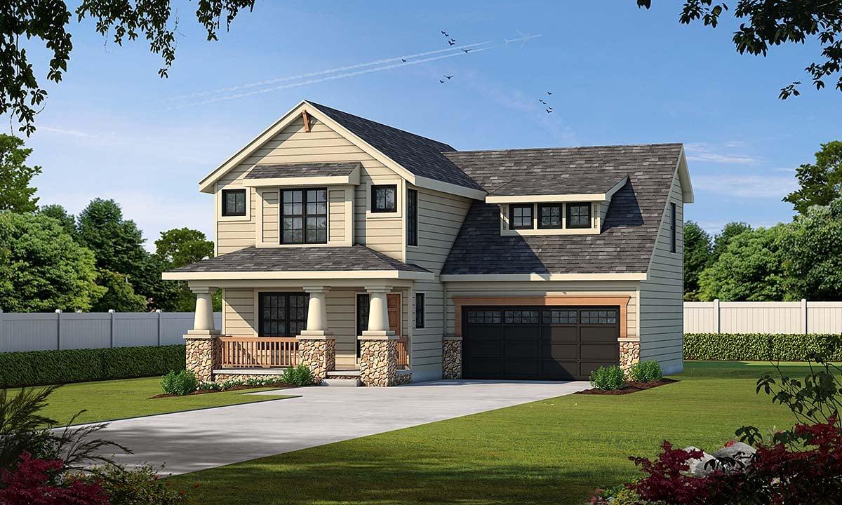 Craftsman House Plan 68234 Elevation