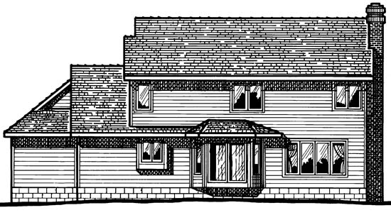 Traditional House Plan 68238 Rear Elevation