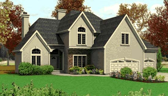 Traditional House Plan 68253 Elevation