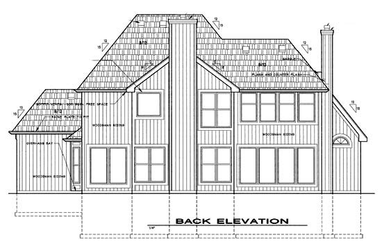 Traditional House Plan 68253 Rear Elevation