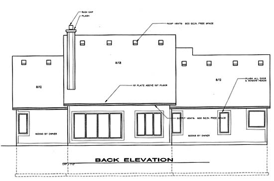 Traditional House Plan 68260 Rear Elevation