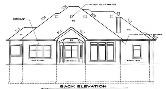 Traditional House Plan 68262 Rear Elevation