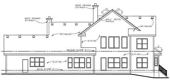 Craftsman House Plan 68278 Rear Elevation