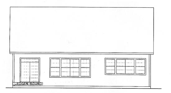 Craftsman House Plan 68305 Rear Elevation