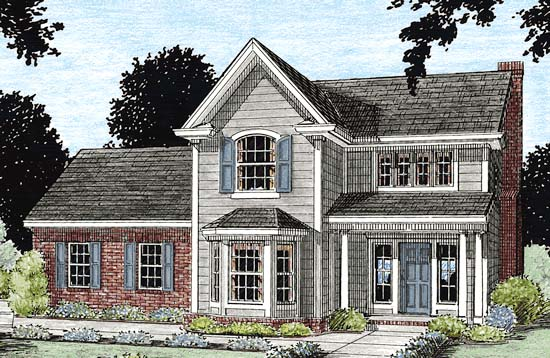 Traditional House Plan 68336 Elevation