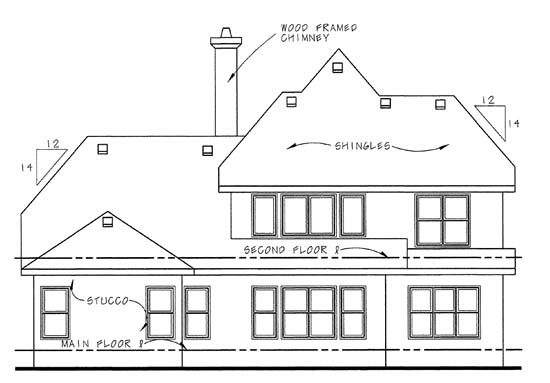 Country House Plan 68342 Rear Elevation