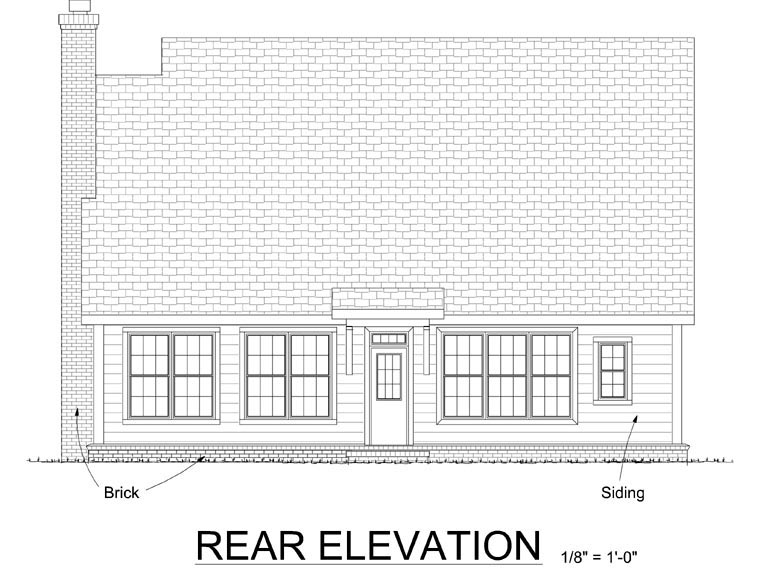 Country Farmhouse House Plan 68347 Rear Elevation