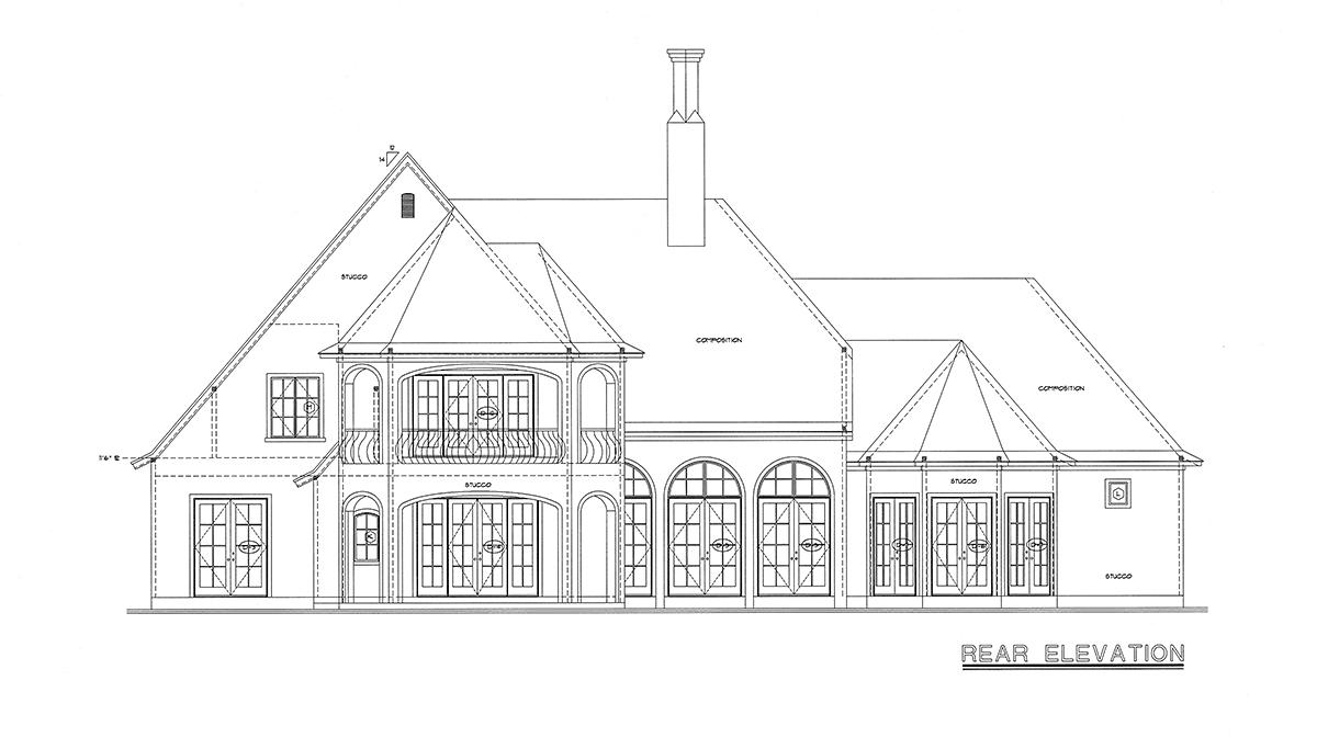 Southern House Plan 68359 Rear Elevation