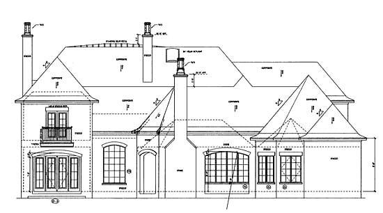 Southern House Plan 68361 Rear Elevation