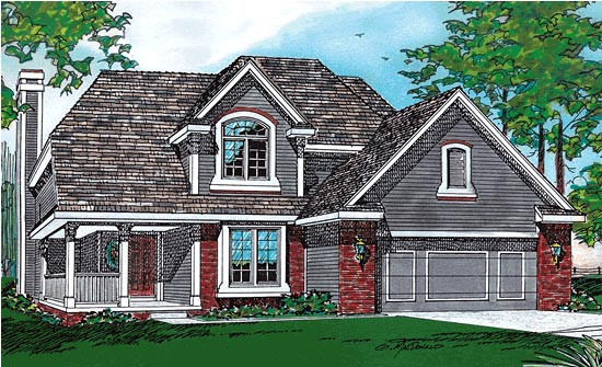 Traditional House Plan 68381 Elevation