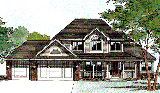 Farmhouse House Plan 68389