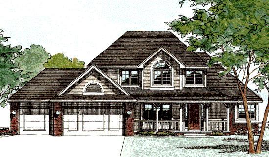 Farmhouse House Plan 68389 Elevation