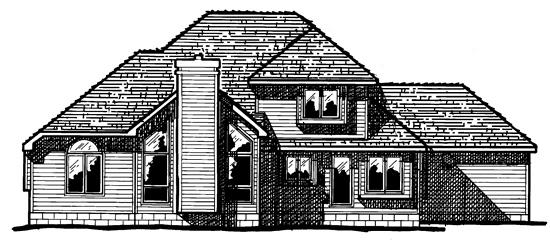 Farmhouse House Plan 68389 Rear Elevation