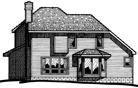 Traditional House Plan 68397 Rear Elevation