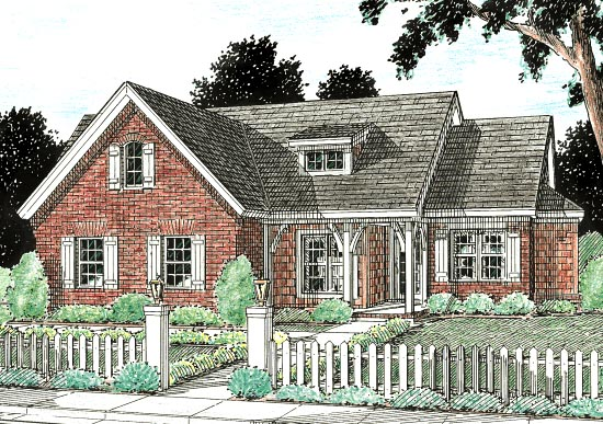Traditional House Plan 68432 Elevation