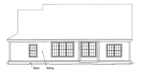 Traditional House Plan 68432 Rear Elevation