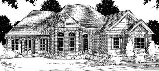 European Victorian House Plan 68442 Elevation