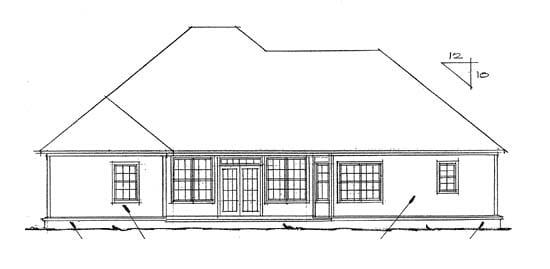 European Victorian House Plan 68442 Rear Elevation