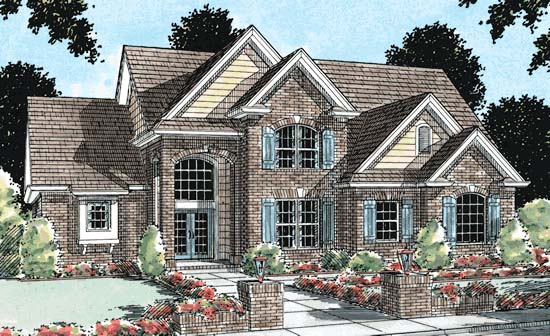 European House Plan 68444 Elevation
