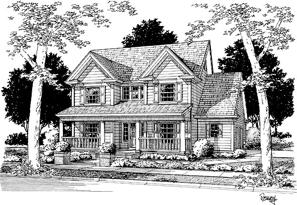 Country Traditional House Plan 68449 Elevation