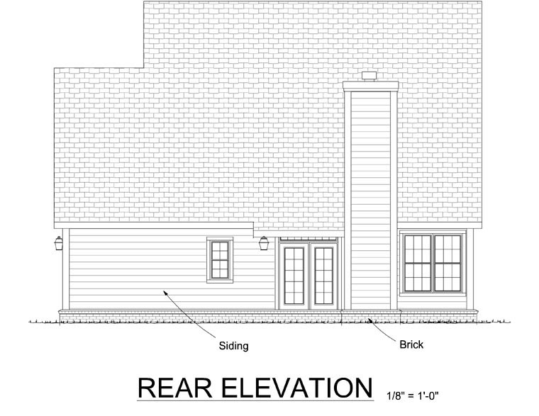 Country Traditional House Plan 68449 Rear Elevation
