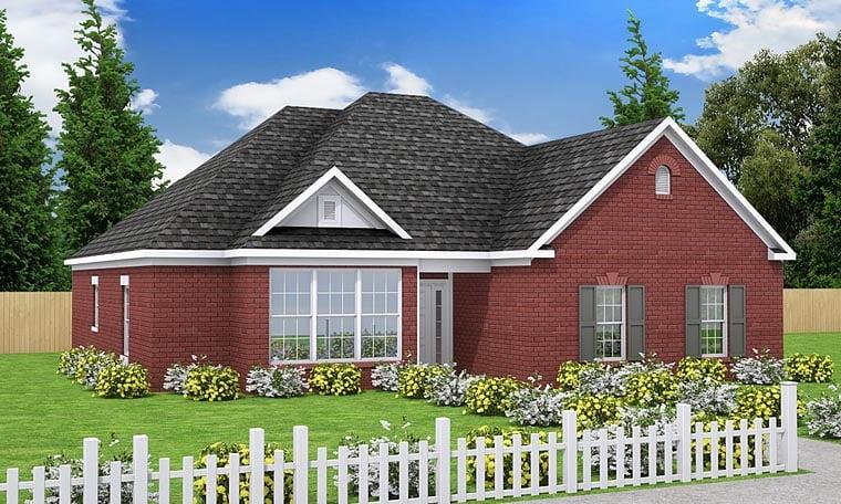 European Traditional House Plan 68469 Elevation