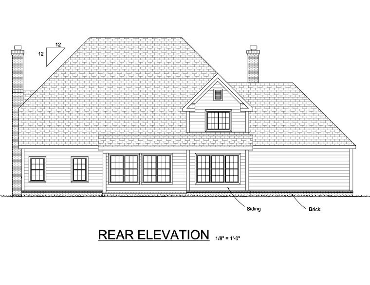Colonial Southern House Plan 68471 Rear Elevation