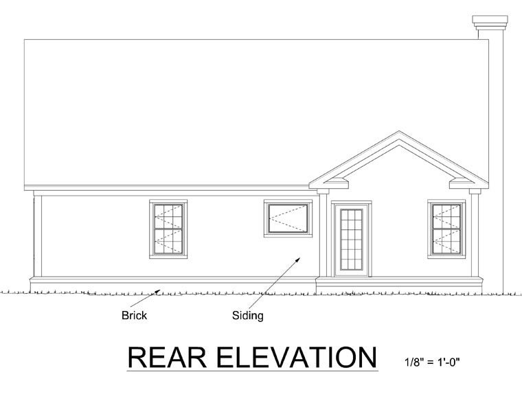 Country House Plan 68472 Rear Elevation