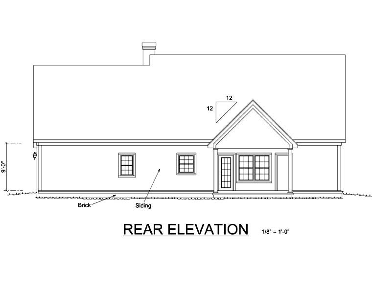 Country Southern House Plan 68475 Rear Elevation