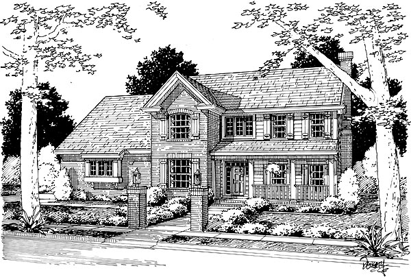 Country Farmhouse House Plan 68486 Elevation