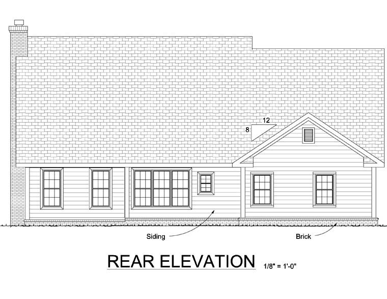 Country Farmhouse House Plan 68486 Rear Elevation