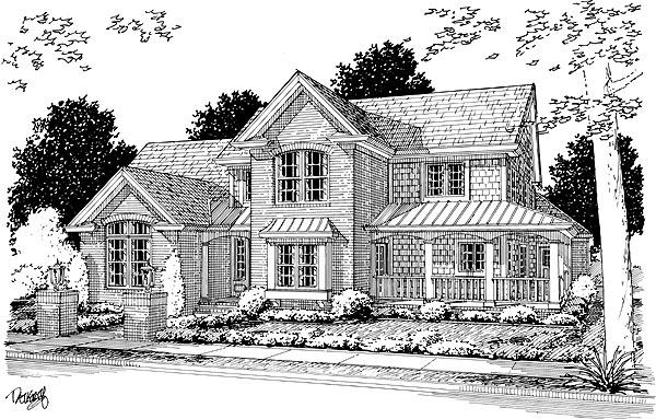 Farmhouse House Plan 68492